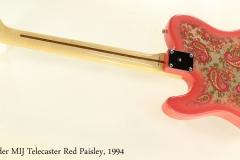 Fender MIJ Telecaster Red Paisley, 1994 Full Rear View