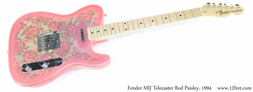 Fender MIJ Telecaster Red Paisley, 1994 Full Front View