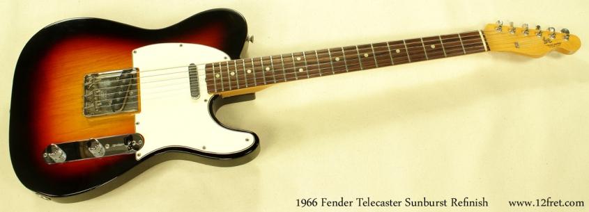 Fender Telecaster Sunburst Refinish 1966 full front view