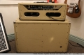 Fender Tremolux Amplifier Head and 2x10 Cabinet Blonde 1964   Full Rear View