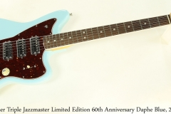 Fender Triple Jazzmaster Limited Edition 60th Anniversary Daphe Blue, 2018 Full Front View
