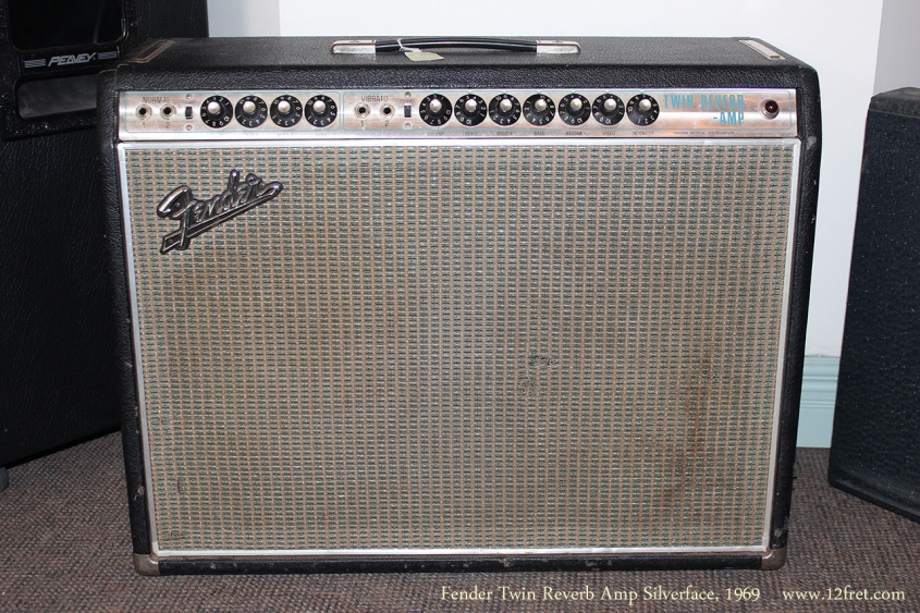 Fender Twin Reverb Amp Silverface, 1969 Full Front View