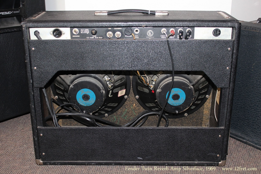 Fender Twin Reverb Amp Silverface, 1969 Full Rear View