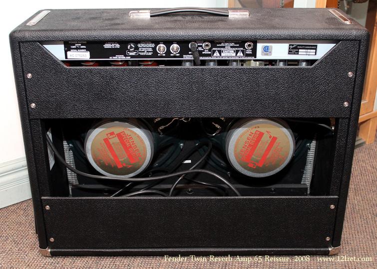 Fender Twin Reverb 65 Reissue Amp 2008 back
