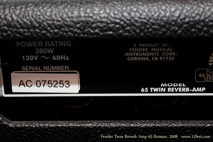 The best: dating reissue fender amps by serial number