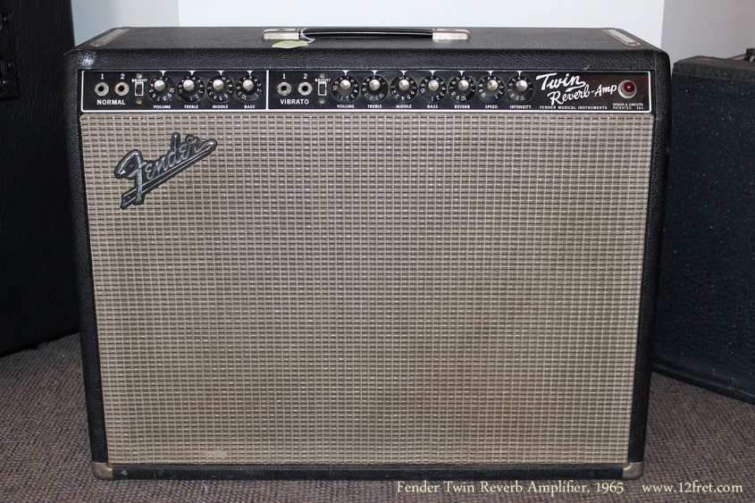Fender Twin Reverb Amplifier, 1965 Full Front VIew