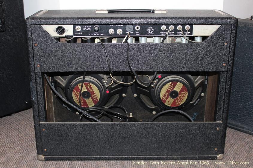 Fender Twin Reverb Amplifier, 1965 Full Rear View
