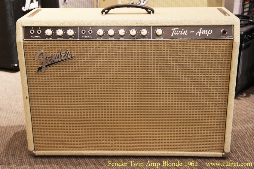 Fender Twin Amp Blonde 1962 Full Front View