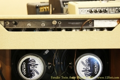 Fender Twin Amp Blonde 1962 Rear Panel View