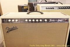 Fender Twin Amp Blonde 1962 Controls View