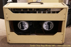 Fender Twin Amp Blonde 1962 Full Rear View