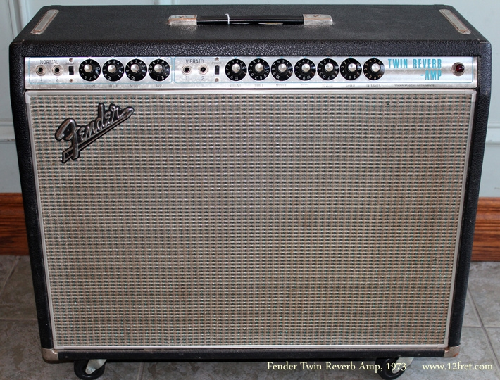 Fender Twin Reverb Amp 1973 front view