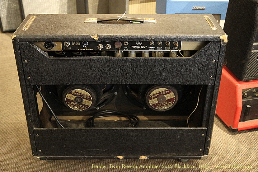 Fender Twin Reverb Amplifier 2x12 Blackface, 1965 Full Rear View