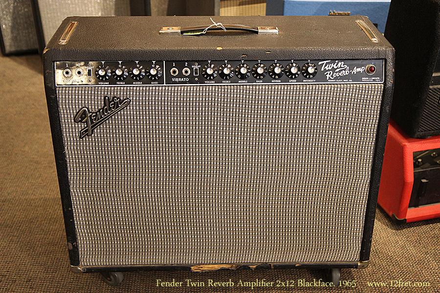 Fender Twin Reverb Amplifier 2x12 Blackface 1965 Www