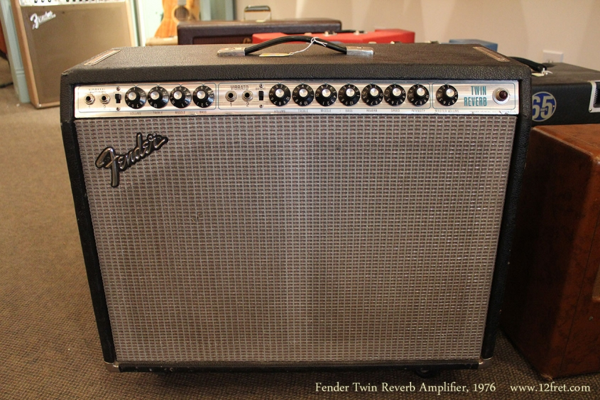 Fender Twin Reverb Amplifier, 1976 Full Front View