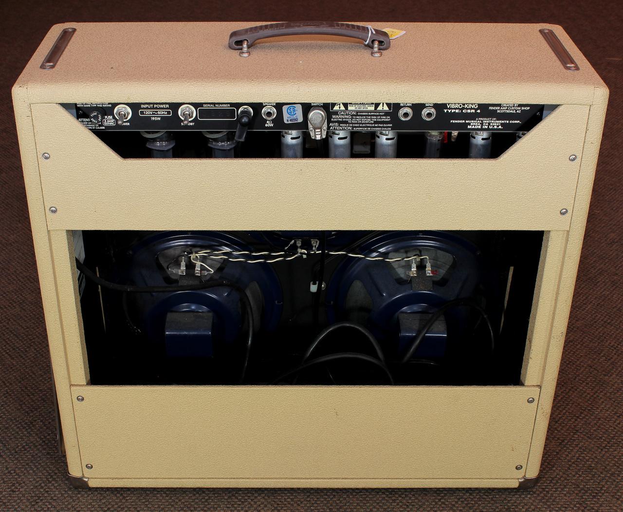 Fender Vibro King CSR4 Amplifier rear view