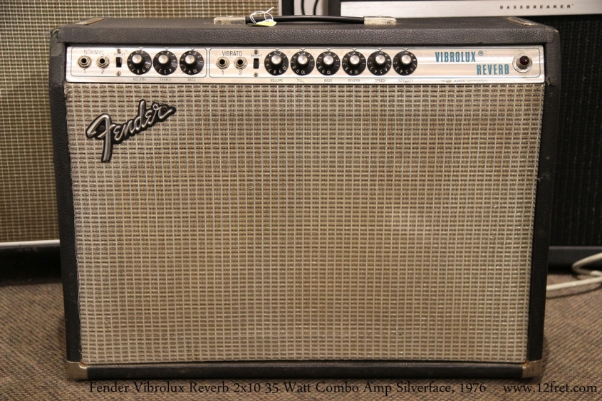 Fender Vibrolux Reverb Combo Amp Silverface, 1976   Full Front View