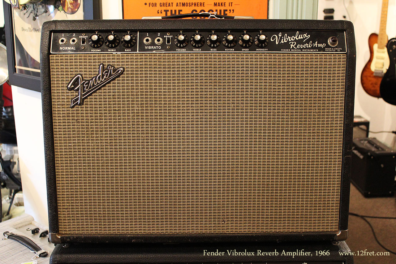 Fender Vibrolux Reverb Amplifier, 1966 Full Front View