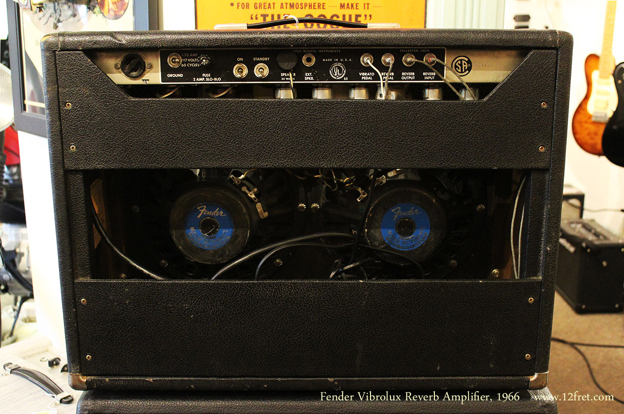 Fender Vibrolux Reverb Amplifier, 1966 Full Rear View