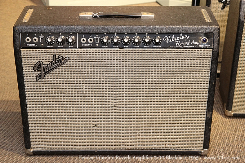 Fender Vibrolux Reverb Amplifier 2x10 Blackface, 1965 Full Front View