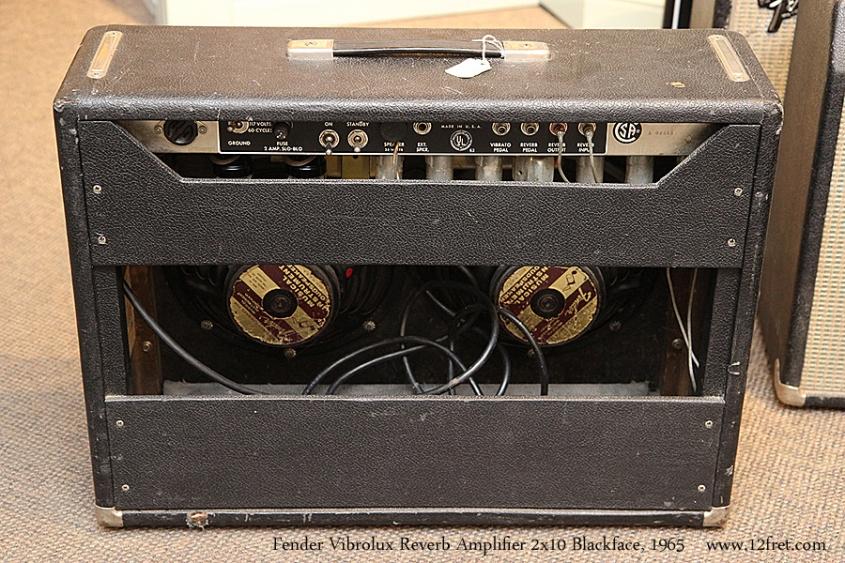 Fender Vibrolux Reverb Amplifier 2x10 Blackface, 1965 Full Rear View