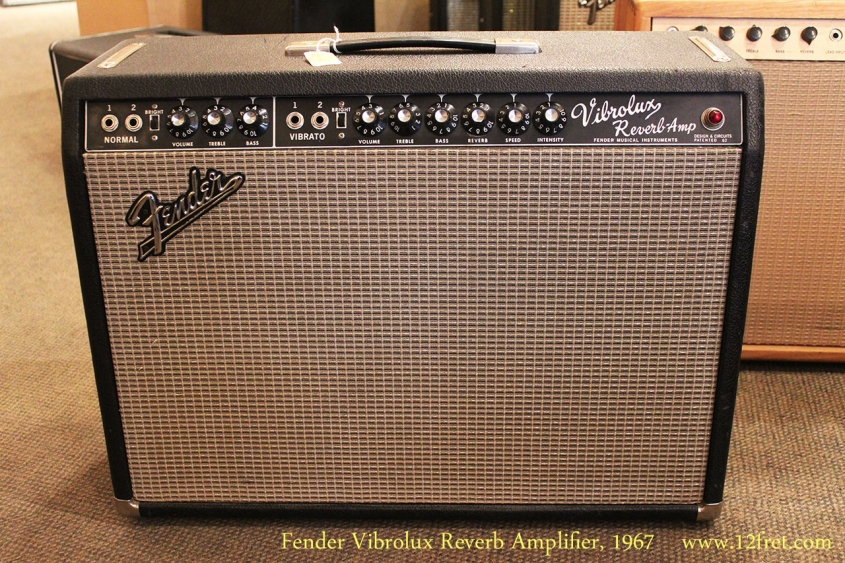Fender Vibrolux Reverb Amplifier, 1967 Full Front View