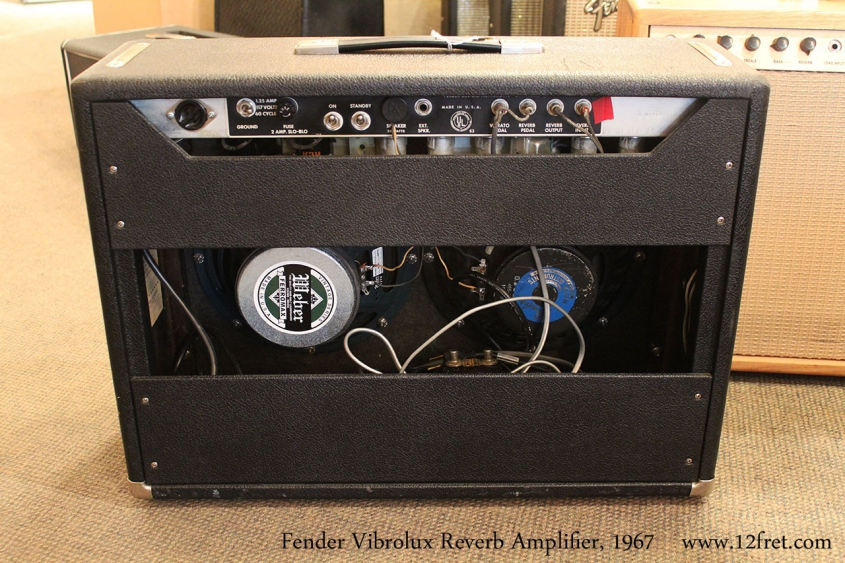 Fender Vibrolux Reverb Amplifier, 1967 Full Rear View