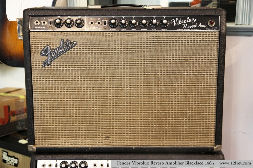 Fender Vibrolux Reverb Amplifier Blackface 1965   Full Front View