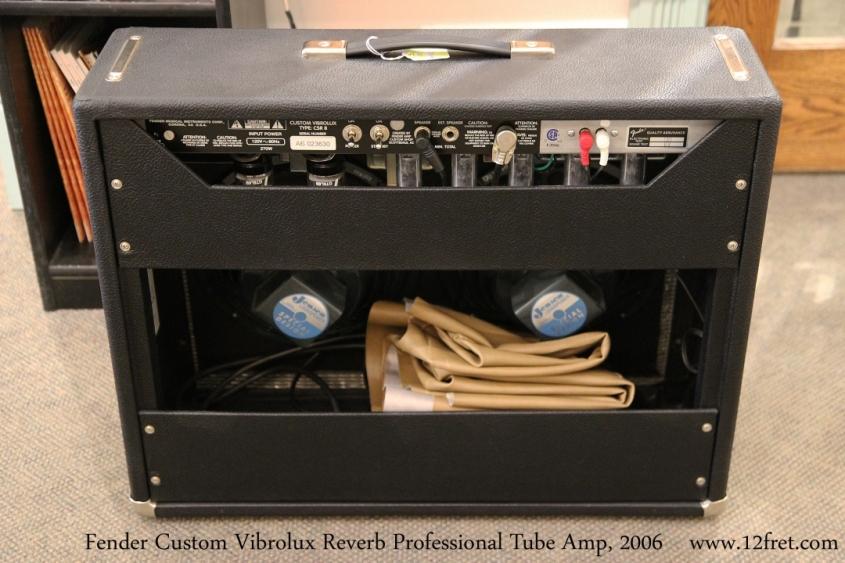 Fender Custom Vibrolux Reverb Professional Tube Amp, 2006  Full Rear View