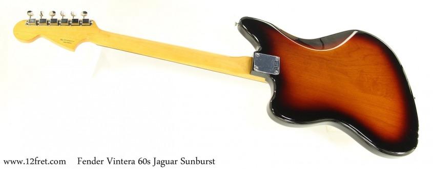 Fender Vintera 60s Jaguar Sunburst Full Rear View