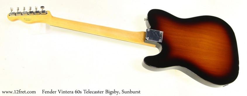 Fender Vintera 60s Telecaster Bigsby, Sunburst Full Rear View