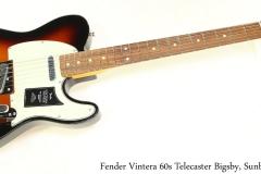 Fender Vintera 60s Telecaster Bigsby, Sunburst Full Front View
