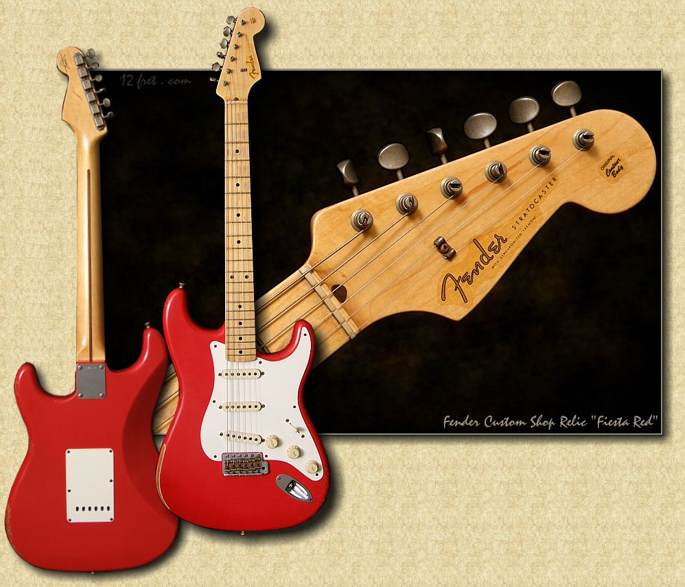 Fender Time Machine 56 Relic Strat: Fiesta Red - www 12fret com