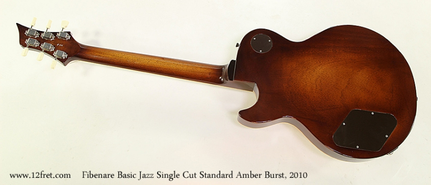 Fibenare Basic Jazz Single Cut Standard Amber Burst, 2010 Full Rear View