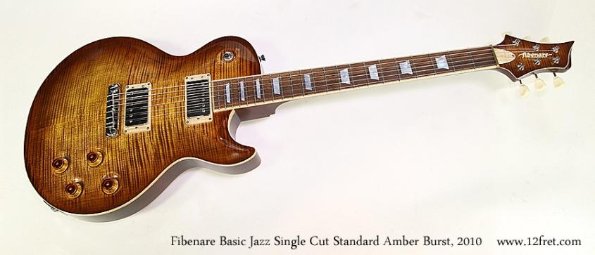 Fibenare Basic Jazz Single Cut Standard Amber Burst, 2010 Full Front View