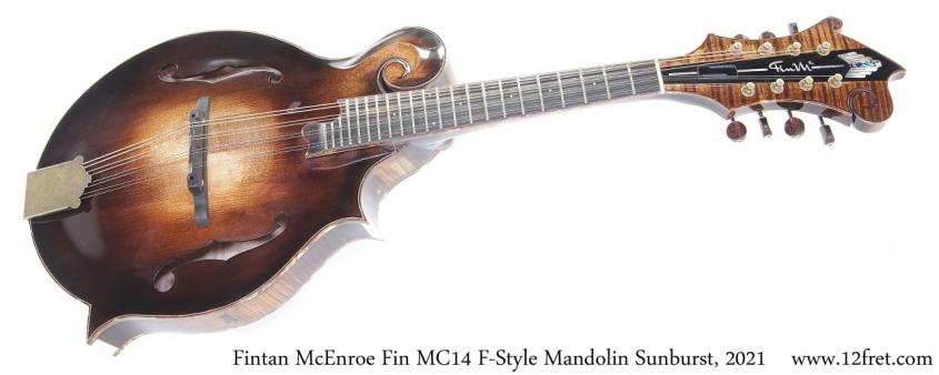 Fintan McEnroe Fin MC14 F-Style Mandolin Sunburst, 2021 Full Front View