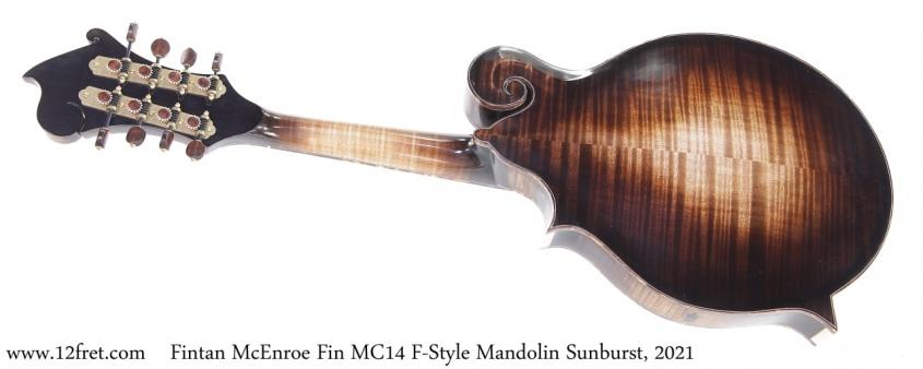 Fintan McEnroe Fin MC14 F-Style Mandolin Sunburst, 2021 Full Rear View