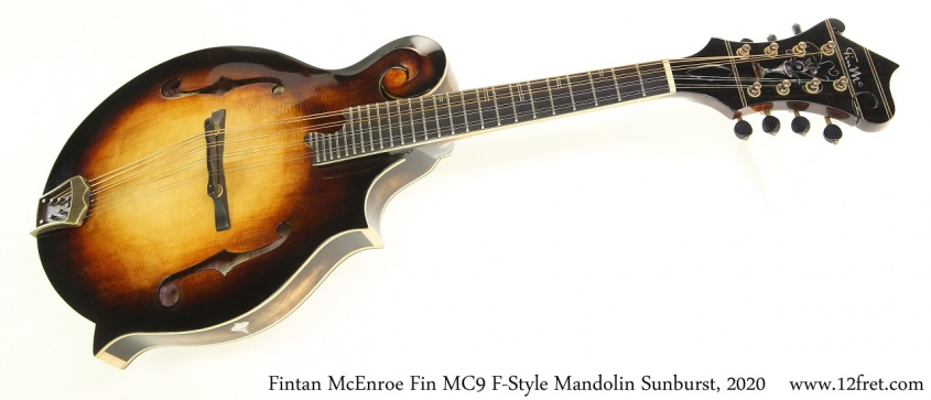 Fintan McEnroe Fin MC9 F-Style Mandolin Sunburst, 2020 Full Front View