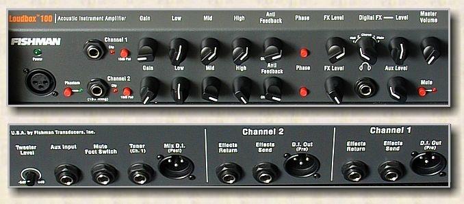 Fishman Loudbox 100 Control Panel View