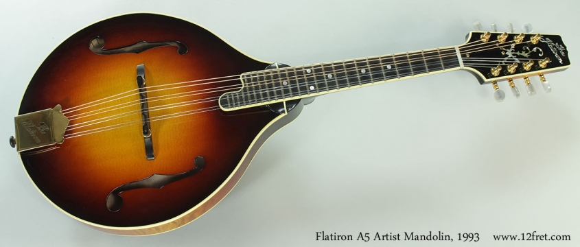 Flatiron A5 Artist Mandolin, 1993 Full Front View