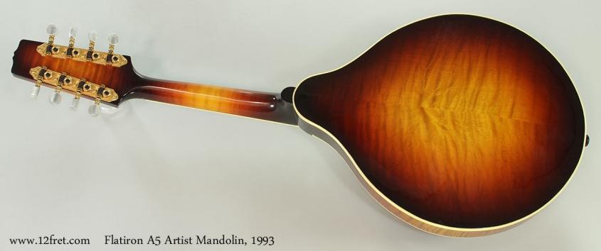 Flatiron A5 Artist Mandolin, 1993 Full Rear View