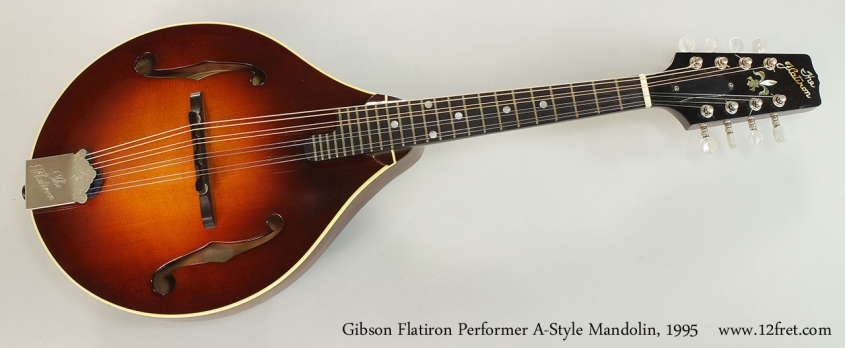 Gibson Flatiron Performer A-Style Mandolin, 1995 Full Front View