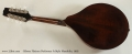 Gibson Flatiron Performer A-Style Mandolin, 1995 Full Rear View