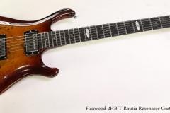Flaxwood 2HB-T Rautia Resonator Guitar, 2012  Full Front View