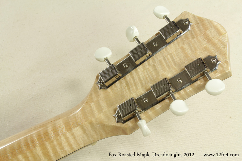 Fox Roasted Maple Dreadnought 2012 head rear