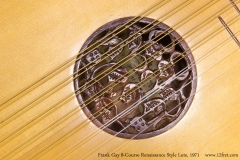 Frank Gay 8-Course Renaissance Style Lute, 1971 Rose View