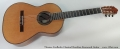 Thomas Fredholm Classical Brazilian Rosewood Guitar Full Front View