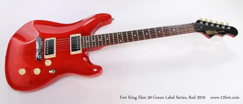 Fret King Elan 50 Green Label Series, Red 2010 Full Front View