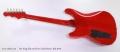 Fret King Elan 50 Green Label Series, Red 2010 Full Rear View