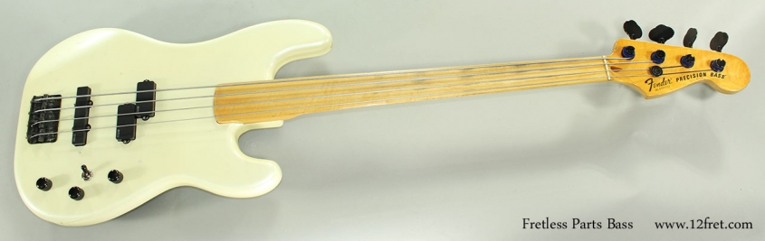 Fretless Parts Bass Full Front View